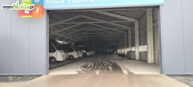 Aplikacja z problemami, autobusy w garażu