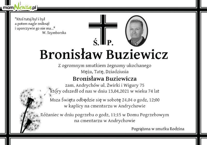 OSTATNIE POŻEGNANIE. Zmarł Bronisław Buziewicz