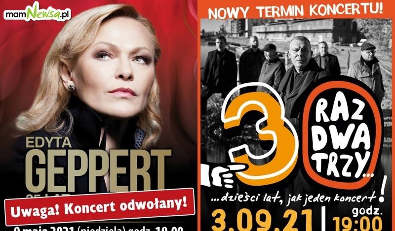 Koncert Edyty Geppert odwołany a zespołu Raz Dwa Trzy przeniesiony