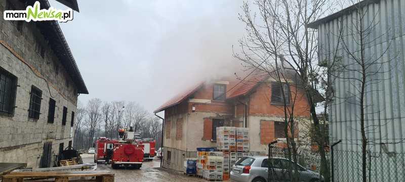 Interwencja strażaków przy ulicy Grunwaldzkiej w Andrychowie