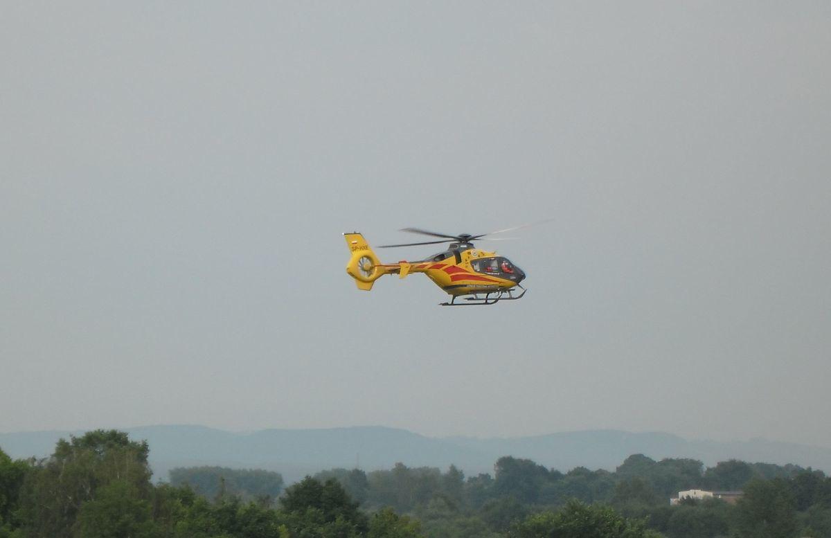 Akcja ratownicza. Poparzony 15-latek przetransportowany do szpitala