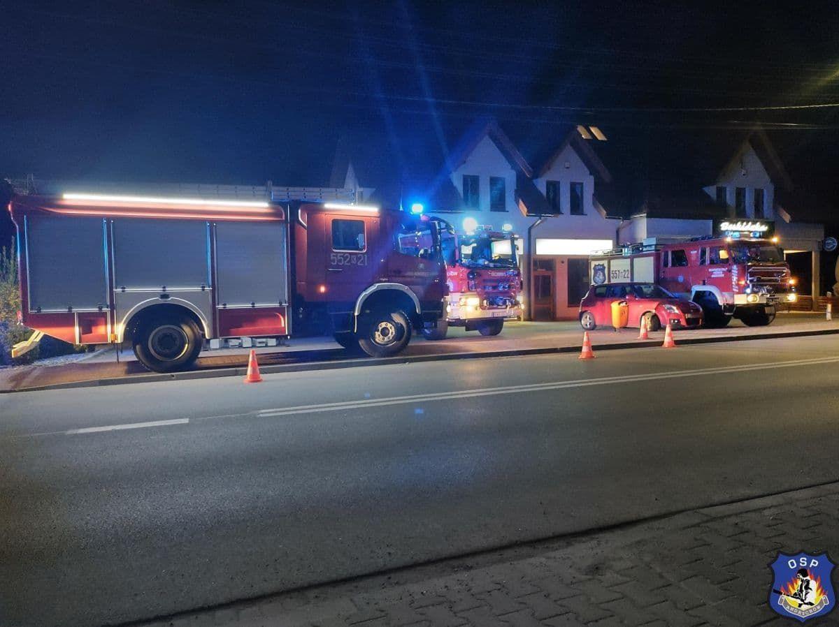Interwencja strażaków na Beskidzkiej