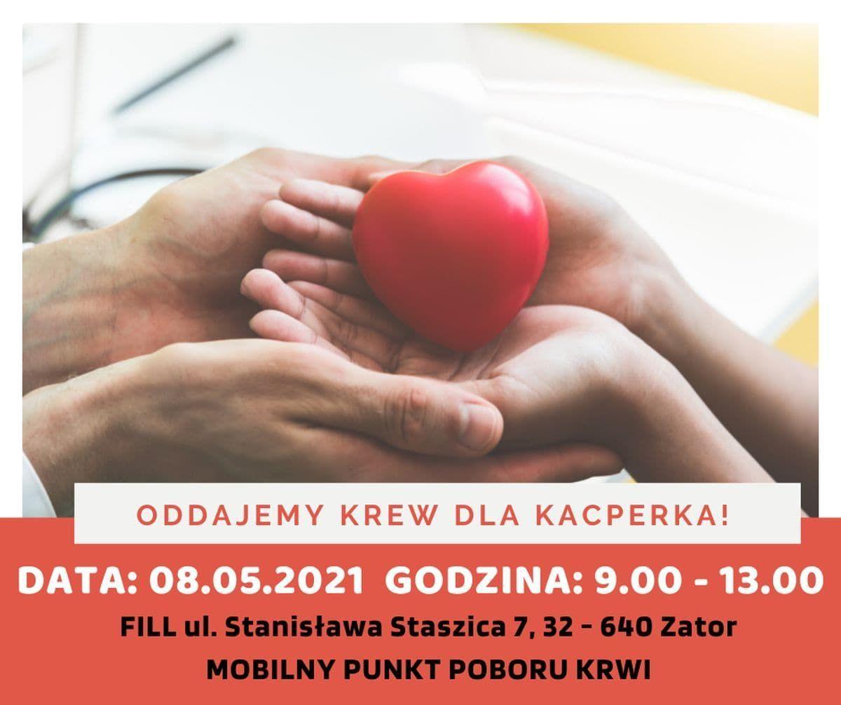 W sobotę akcja krwiodawstwa dla Kacpra