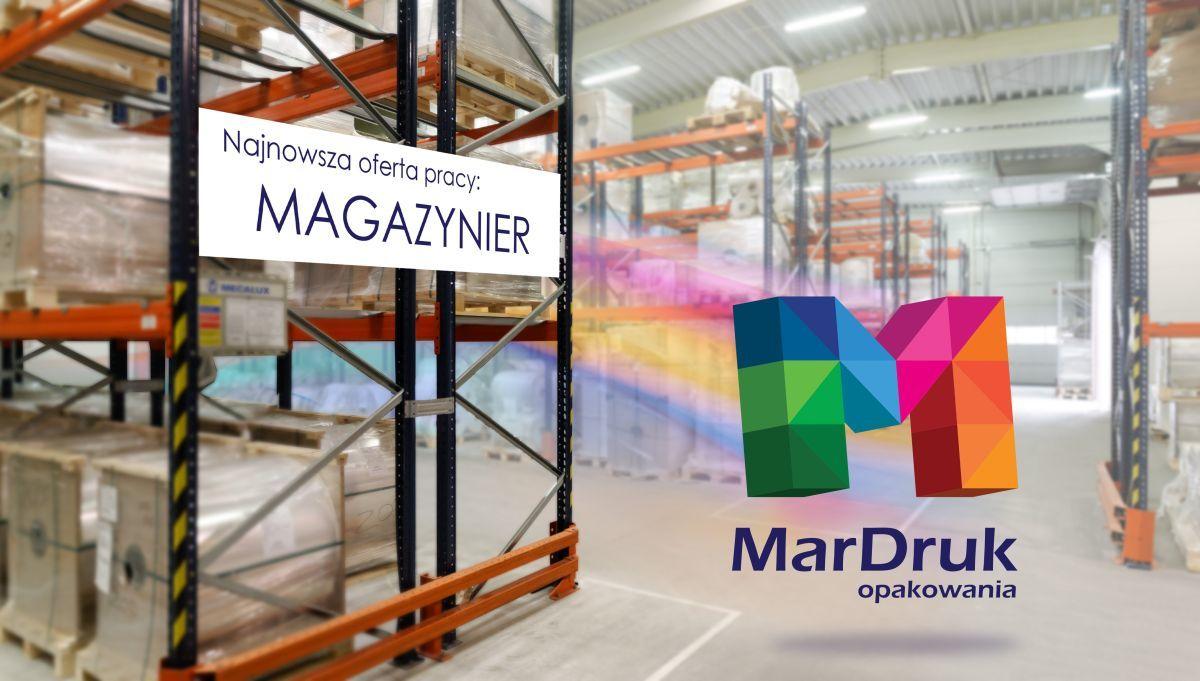 Firma MarDruk Opakowania z Andrychowa zatrudni magazyniera