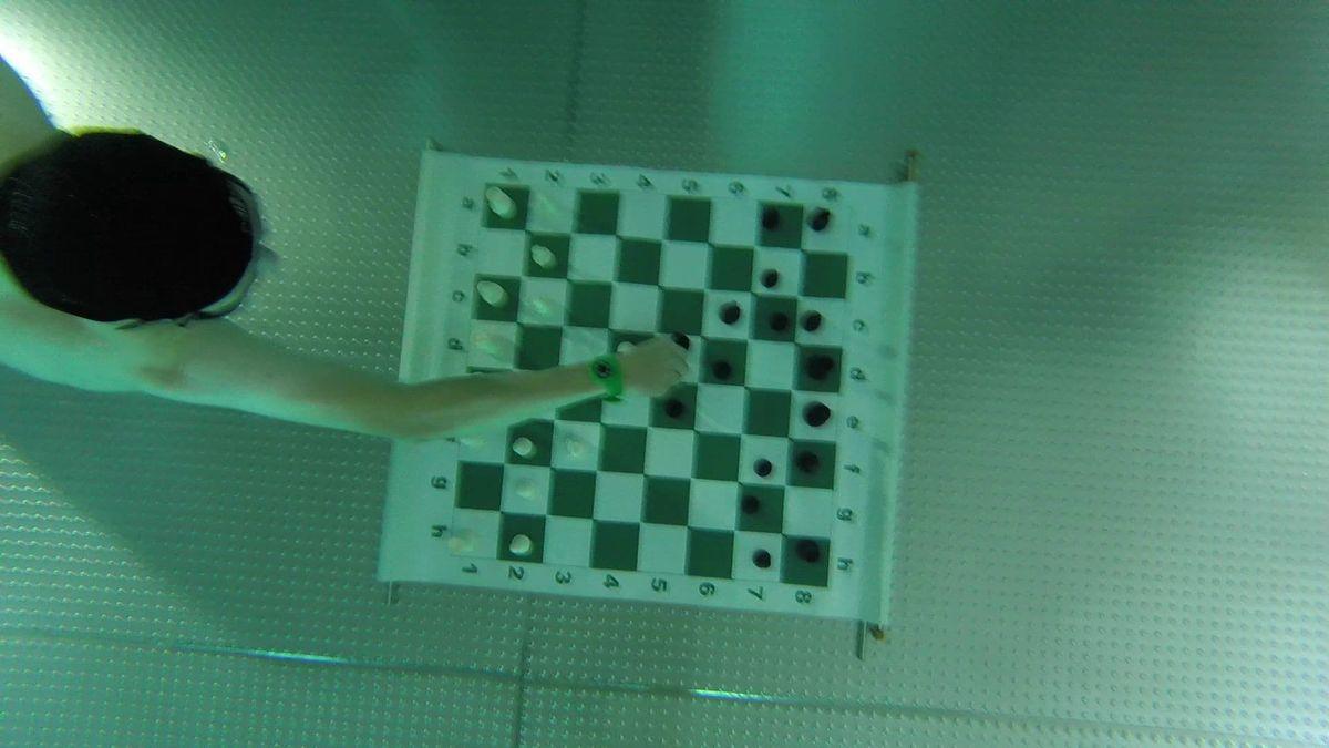 Zagrali w szachy... pod wodą