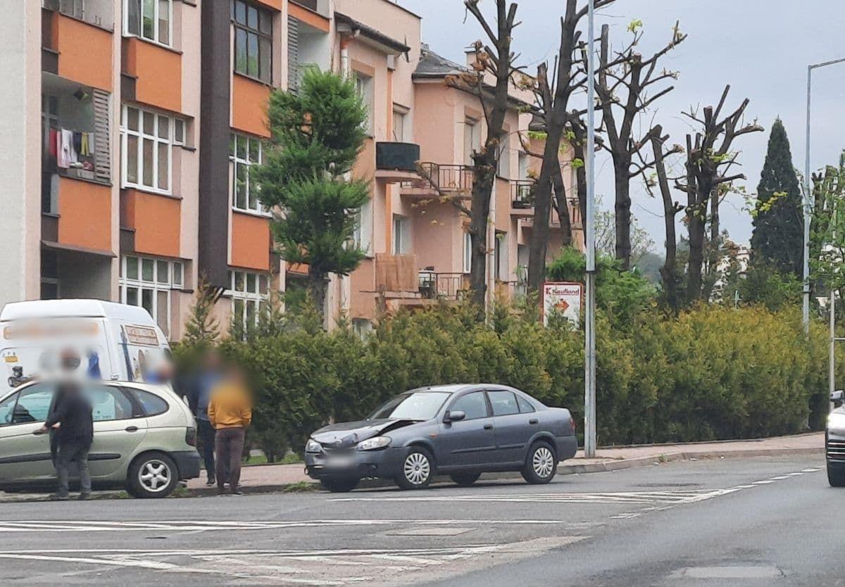 Kolizja na ulicy Krakowskiej w Andrychowie