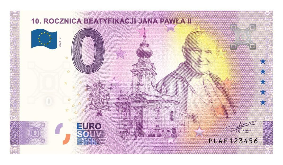 Pamiątkowy banknot o nominalne 0 euro można kupić za 20 zł