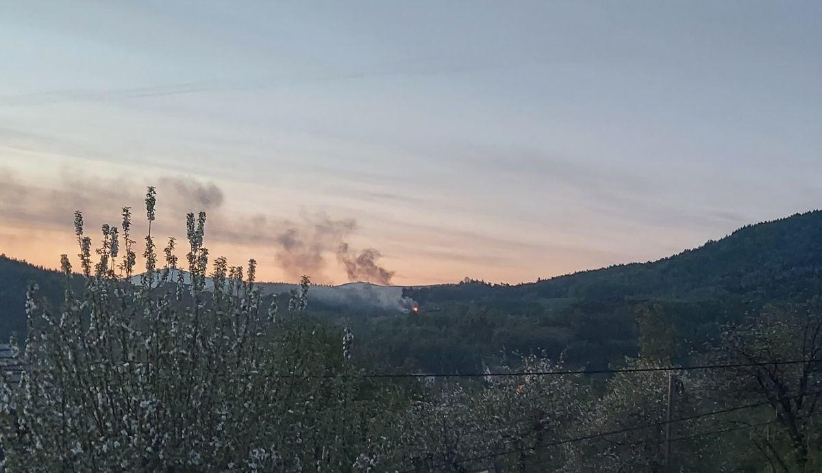Pożar budynku w Targanicach [FOTO]