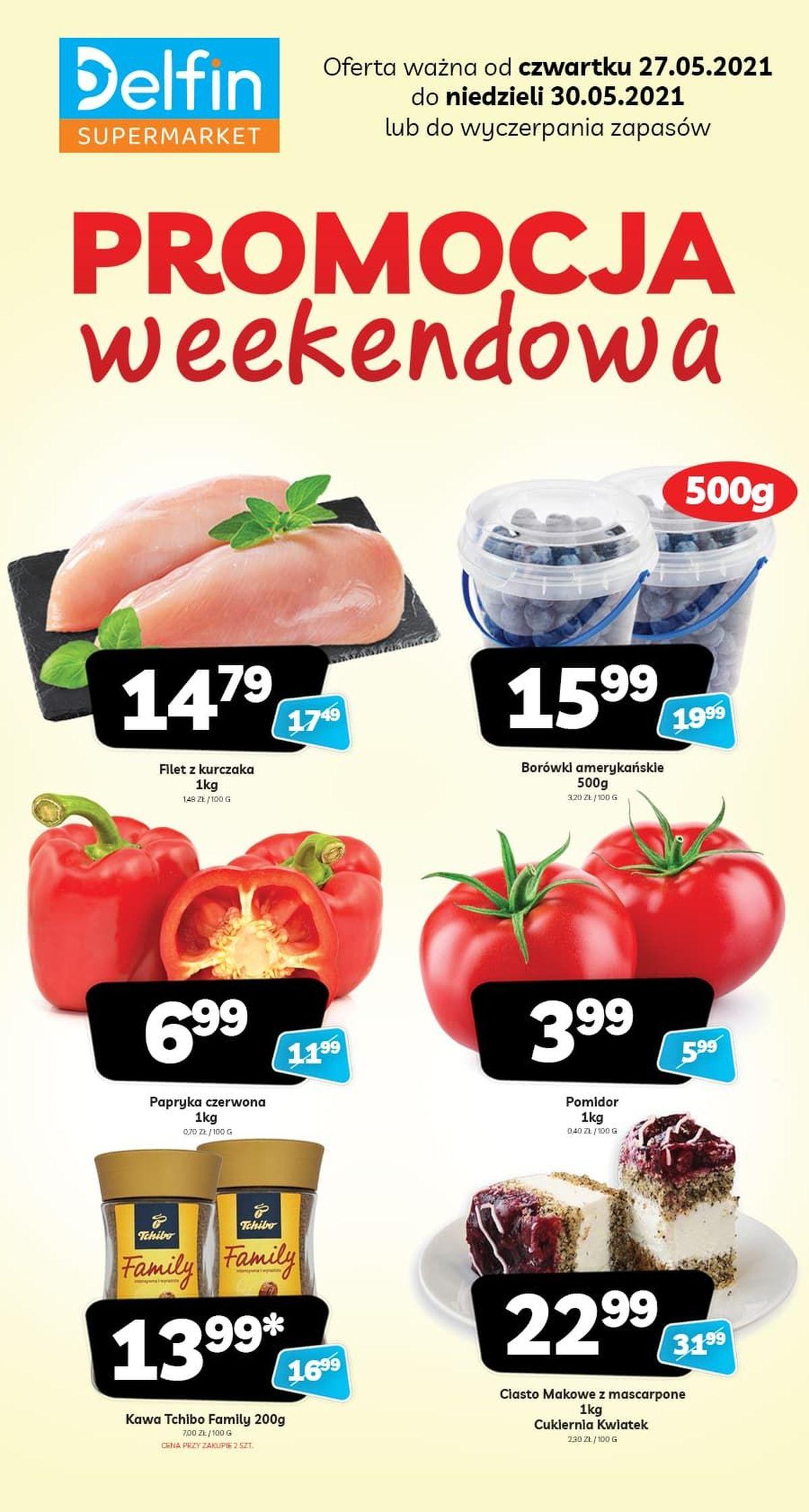 Weekendowe promocje w sklepach Delfin. 27-30 maja