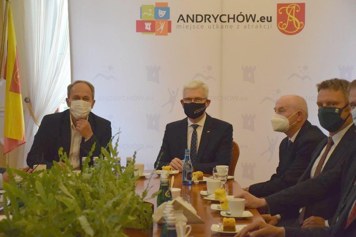 Spotkanie na szczycie w Andrychowie w sprawie budowy zakładu mineralizacji odpadów