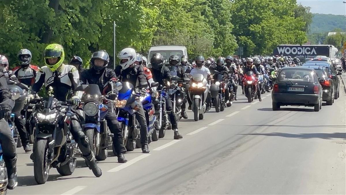 Motocykliści oddali hołd zmarłemu koledze