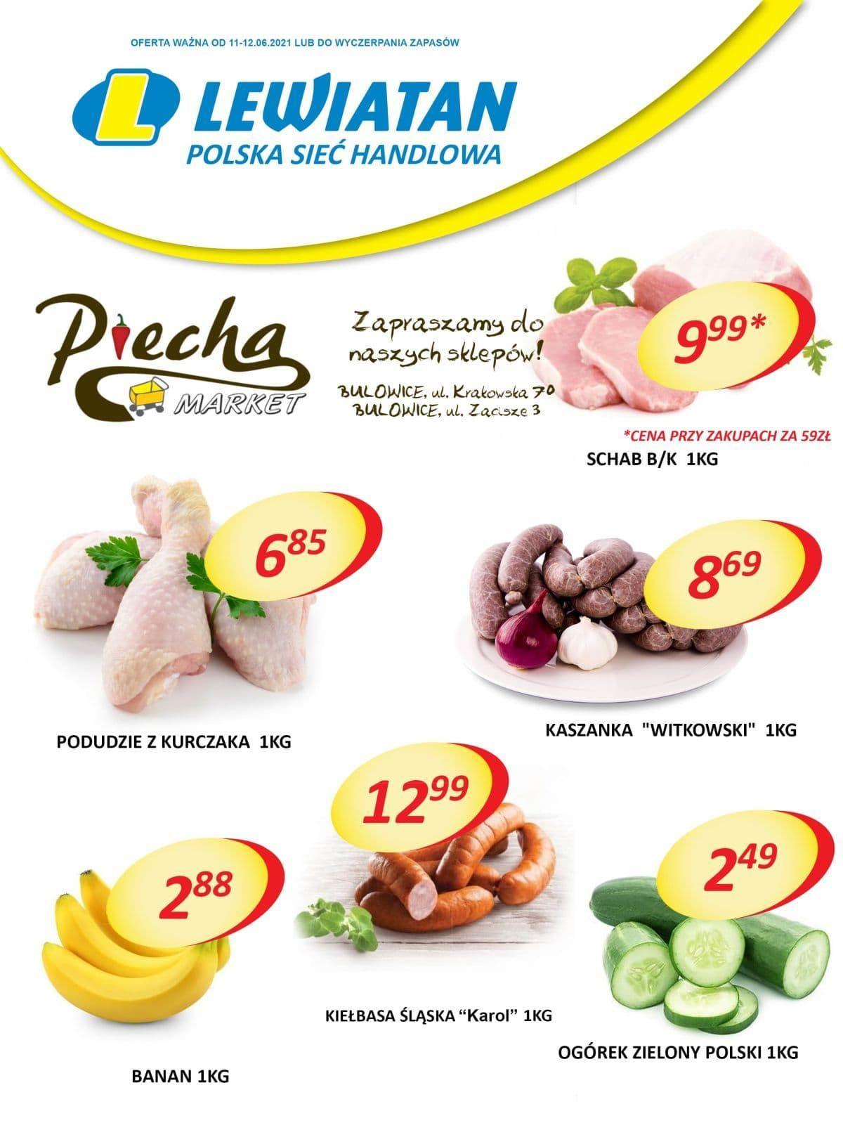 Lewiatan Piecha Market w Bulowicach. Promocje 11-12 czerwca