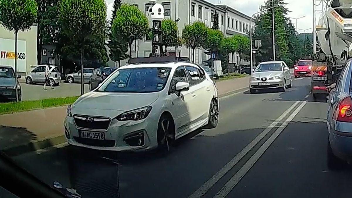 Samochód Apple Maps na ulicach Andrychowa i regionu