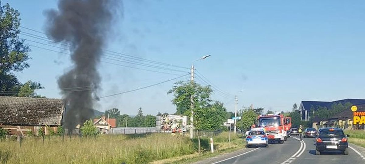 Pożar samochodu w rejonie parku miniatur