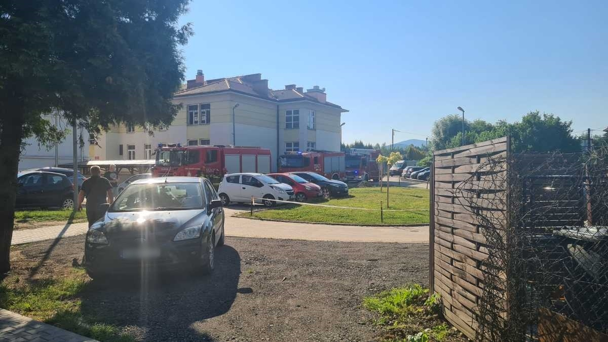 Akcja strażaków w szpitalu w Andrychowie