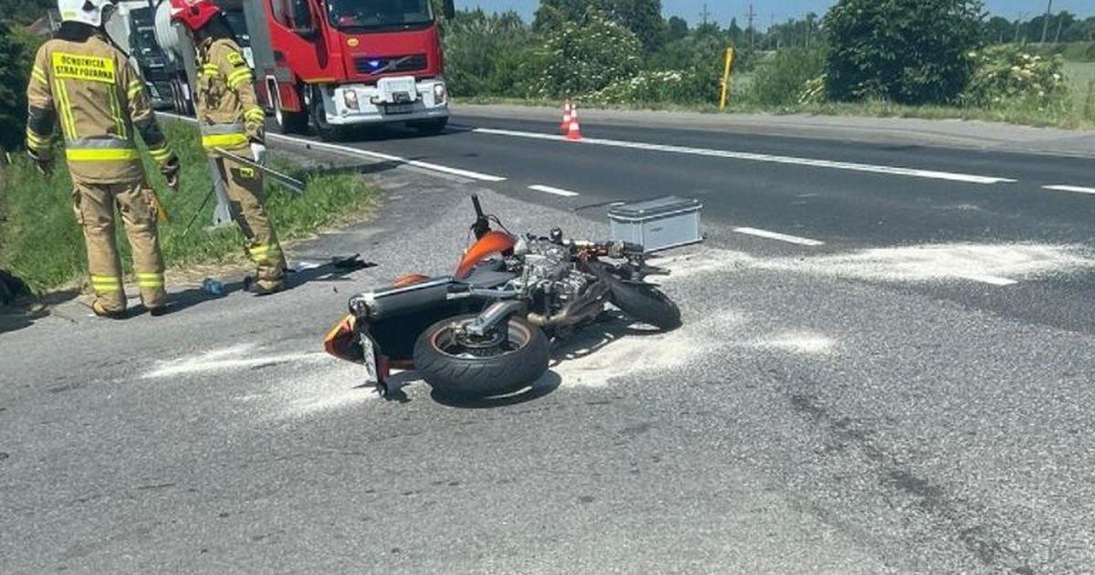 Motocyklista poszkodowany w wypadku [AKTUALIZACJA]