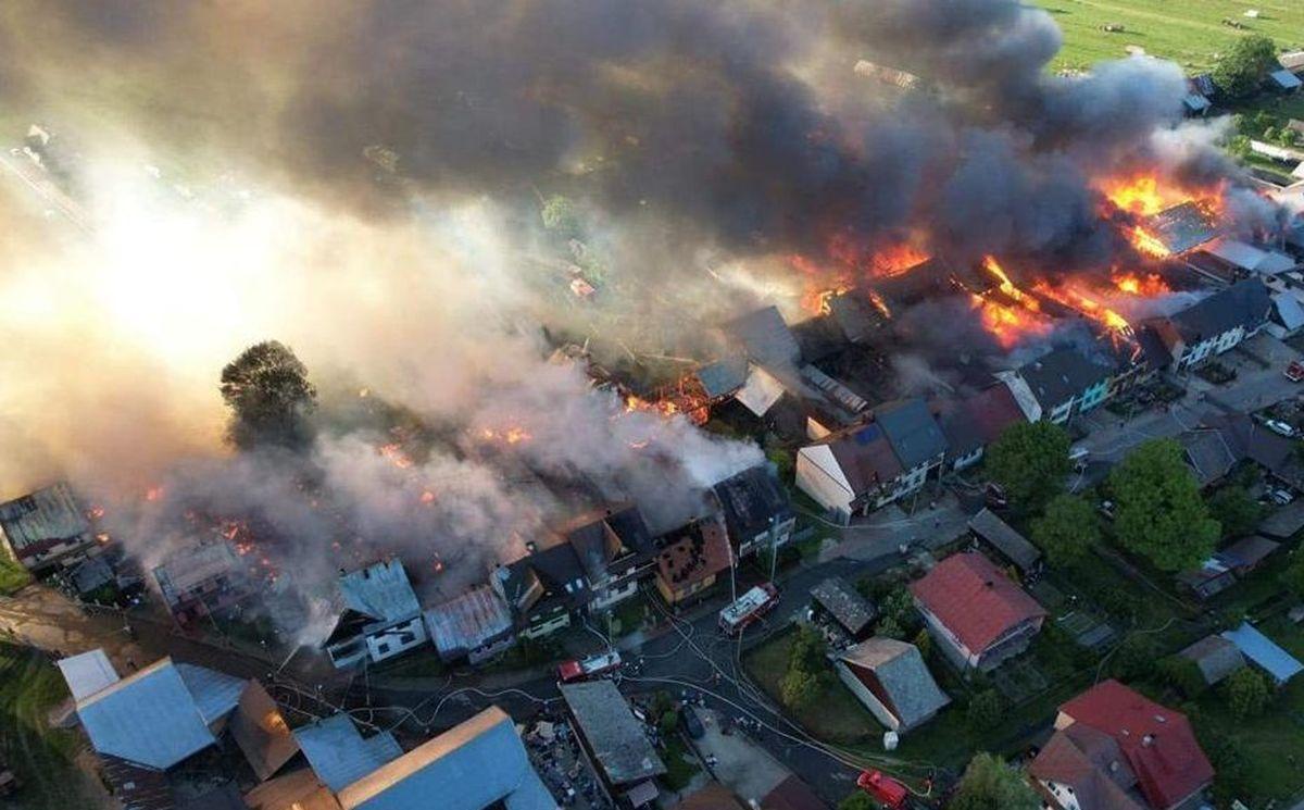 Zbiórka darów dla poszkodowanych w pożarze w Nowej Białej