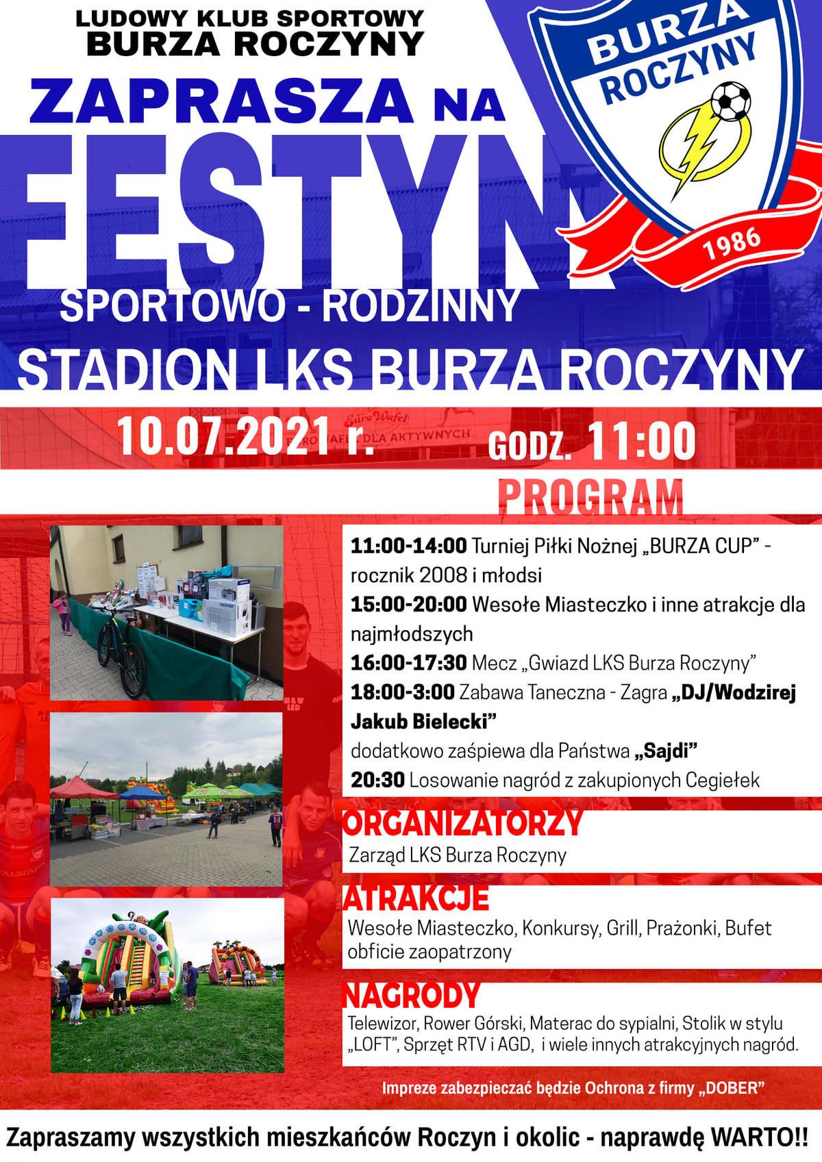 LKS Burza Roczyny zaprasza w sobotę na festyn