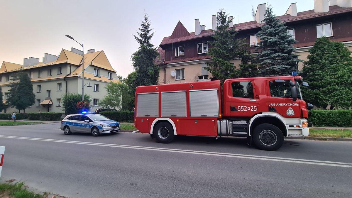 Akcja strażaków w Andrychowie, zagrożenie w kilku mieszkaniach