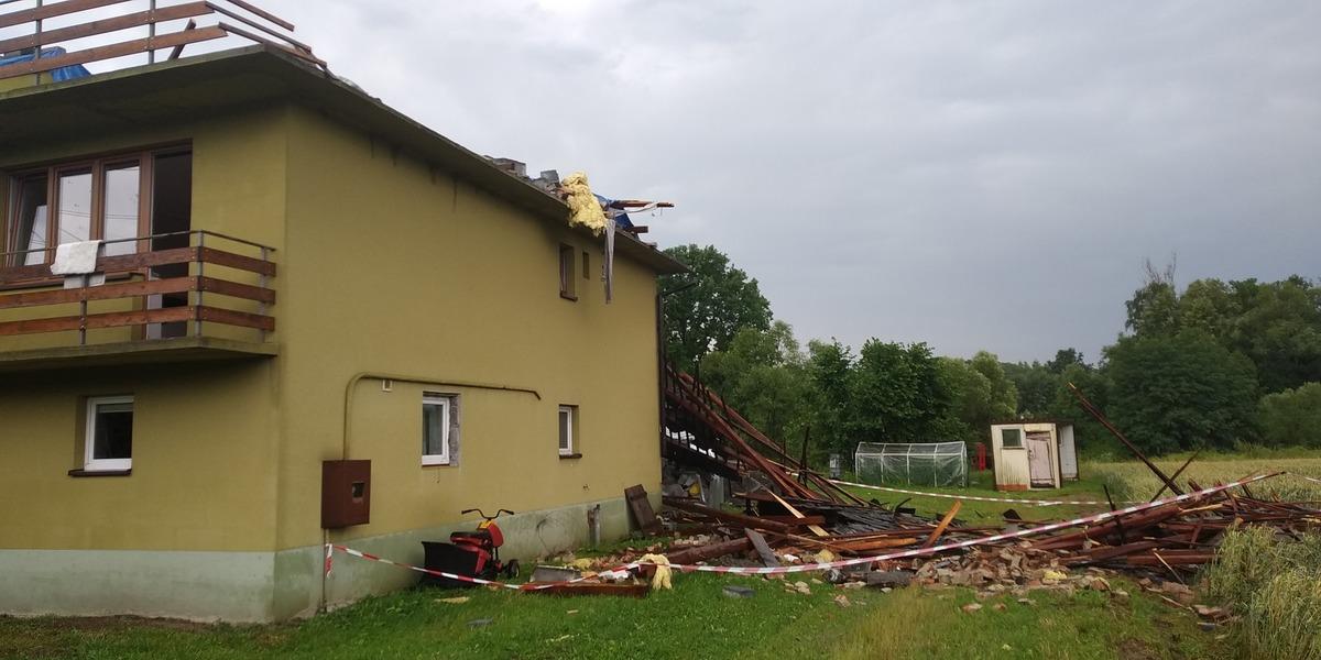 Ogromne straty po burzy. Sołtys apeluje o pomoc [FOTO]