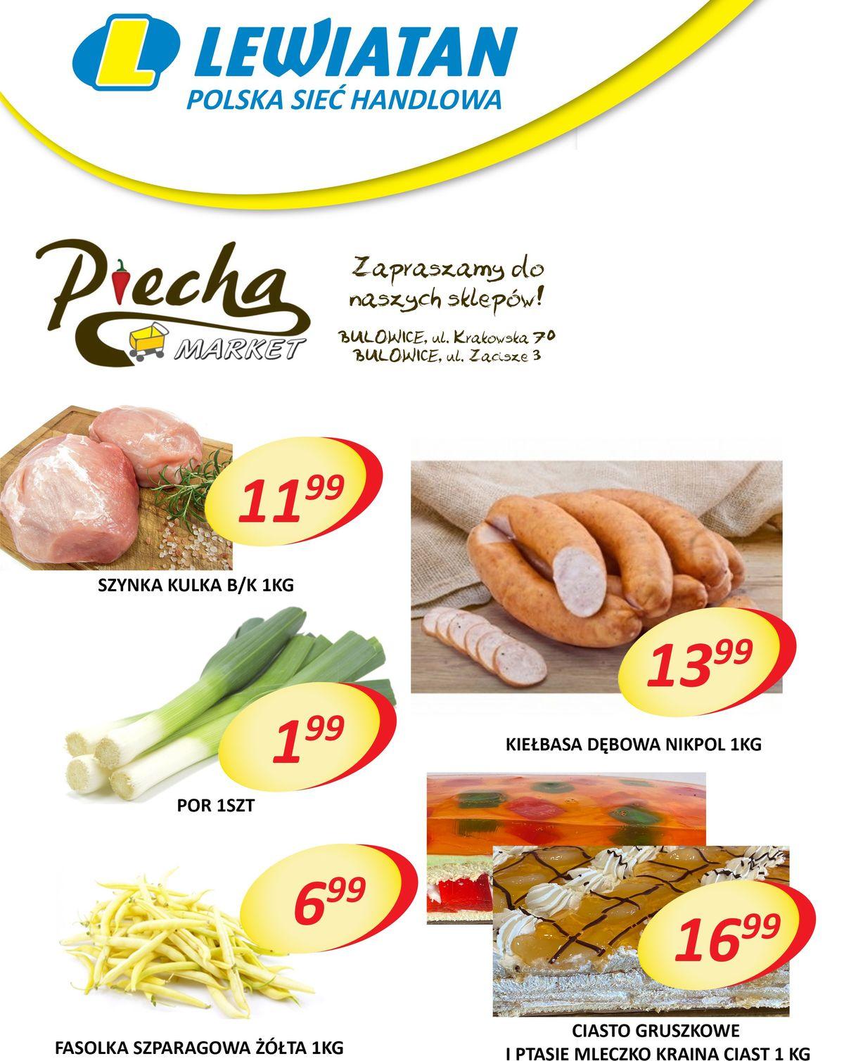 Lewiatan Piecha Market w Bulowicach. Gazetka 16-18 lipca