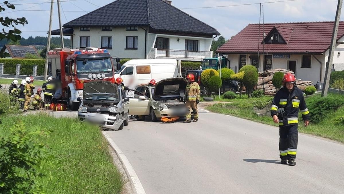 Zderzenie dwóch pojazdów