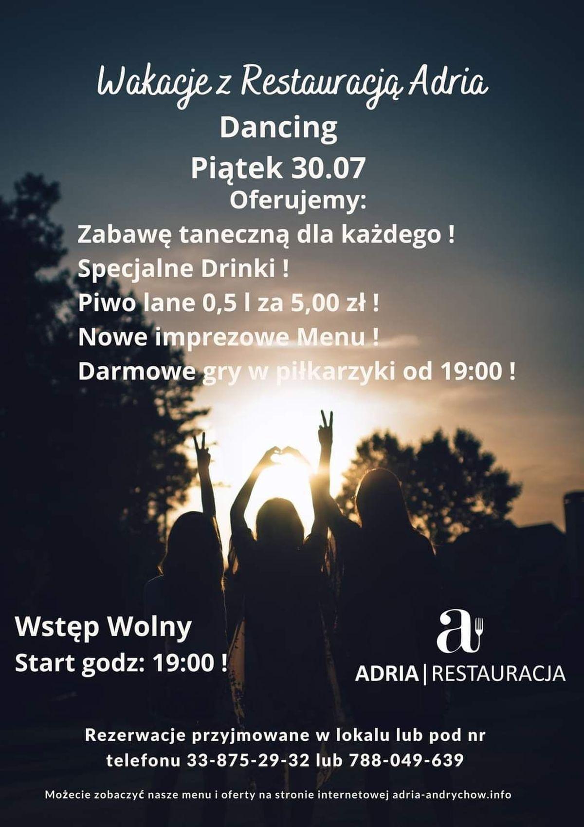 RESTAURACJA ADRIA W ANDRYCHOWIE OGŁASZA KONKURS!
