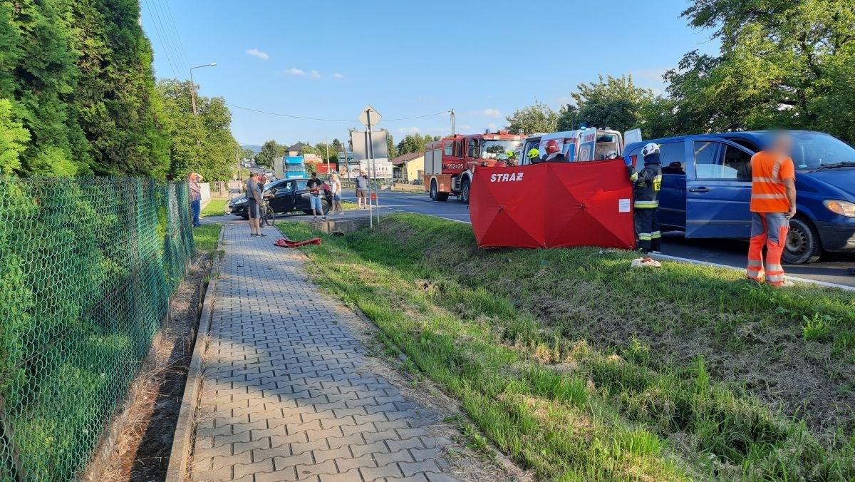Wypadek w Bulowicach [FOTO]