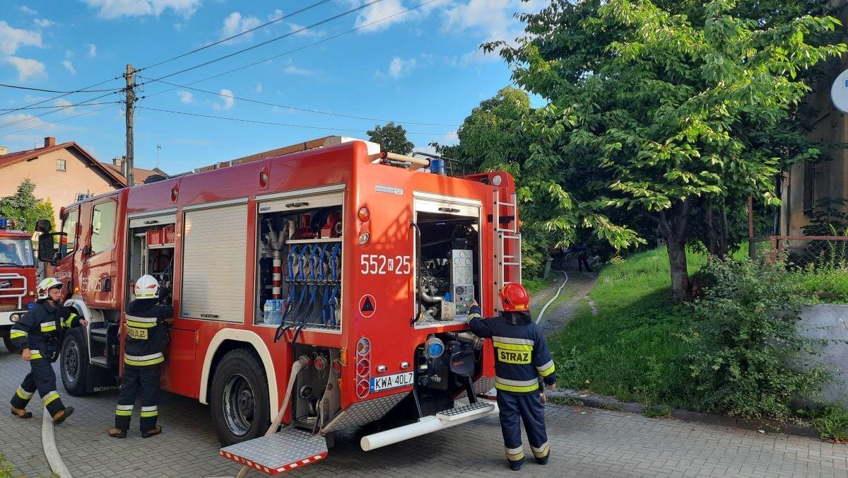 Pożar mieszkania w centrum Andrychowa