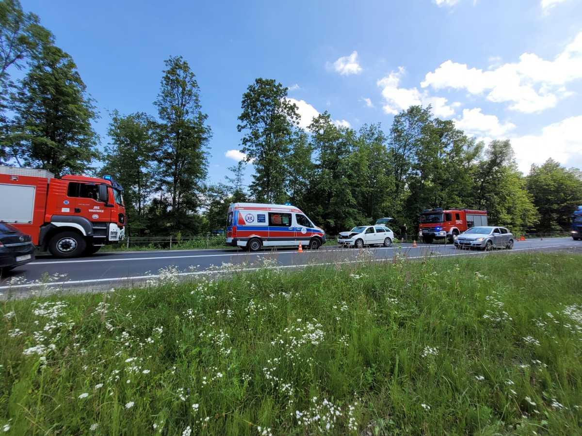 Kolejny wypadek, tym razem na drodze krajowej