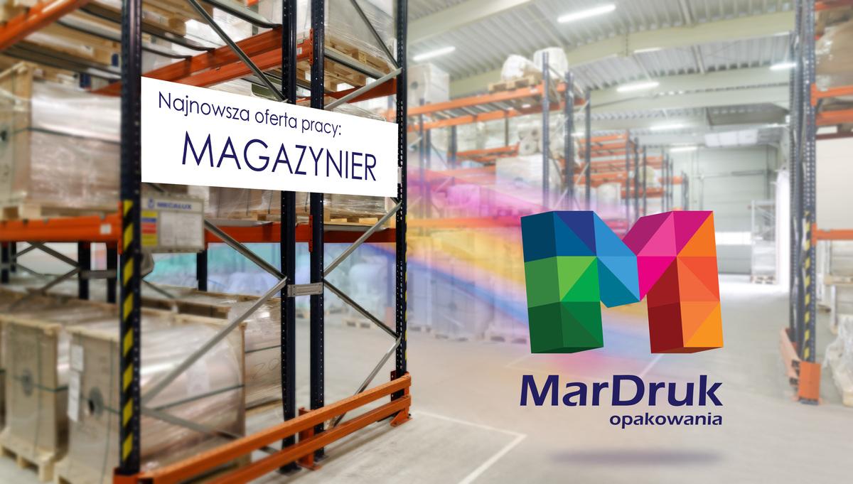 MarDruk Opakowania zatrudni osobę na stanowisko magazynier