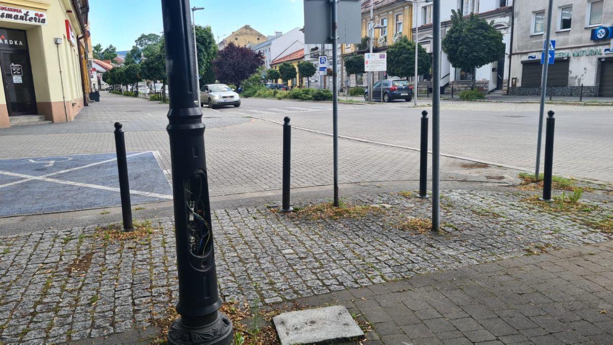 W centrum Andrychowa można zrobić sobie krzywdę
