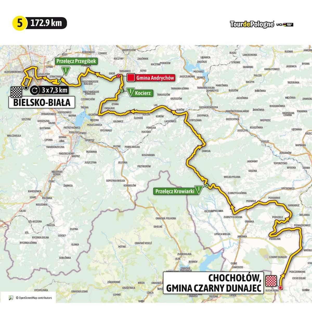 W piątek przemknie wyścig Tour de Pologne. Podajemy czasy przejazdu [AKTUALIZACJA]