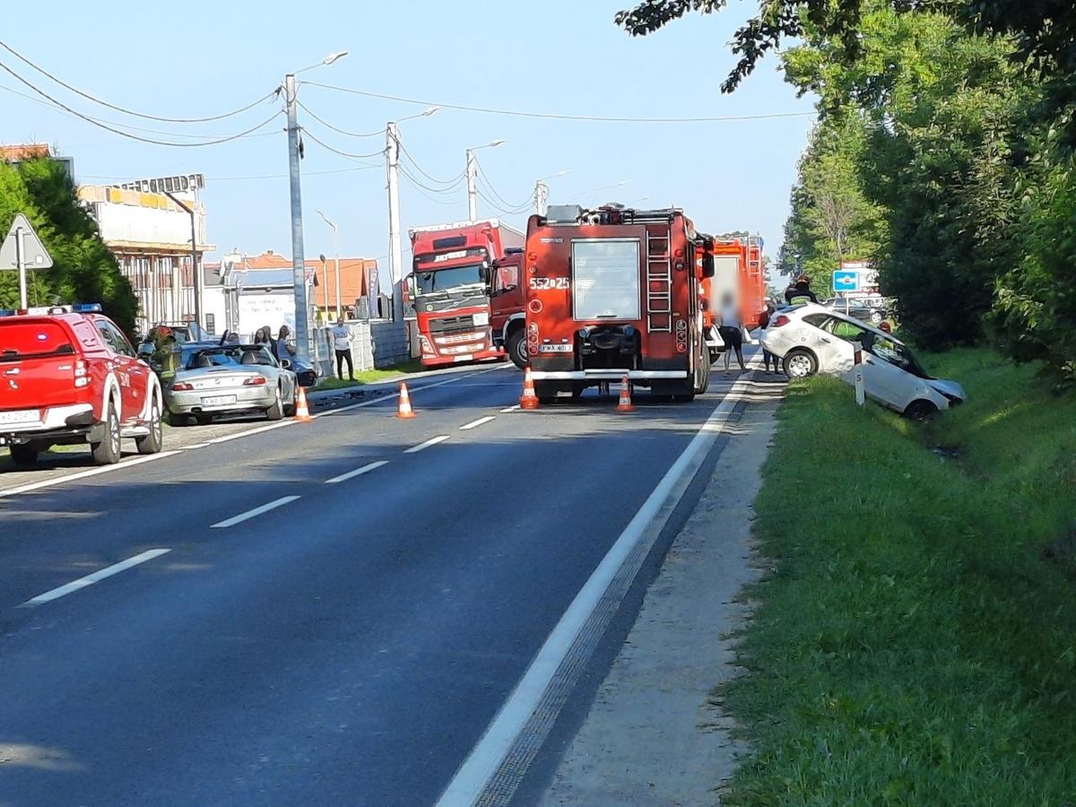 Wypadek na Krakowskiej w Andrychowie [FOTO] [AKTUALIZACJA]