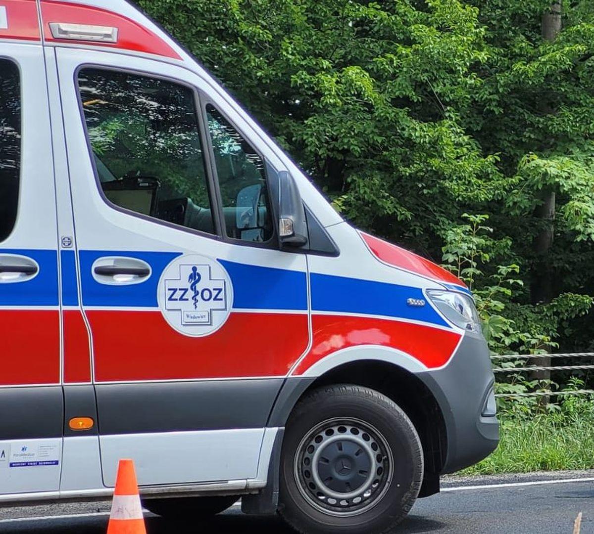 Motocyklista poważnie ranny w wypadku