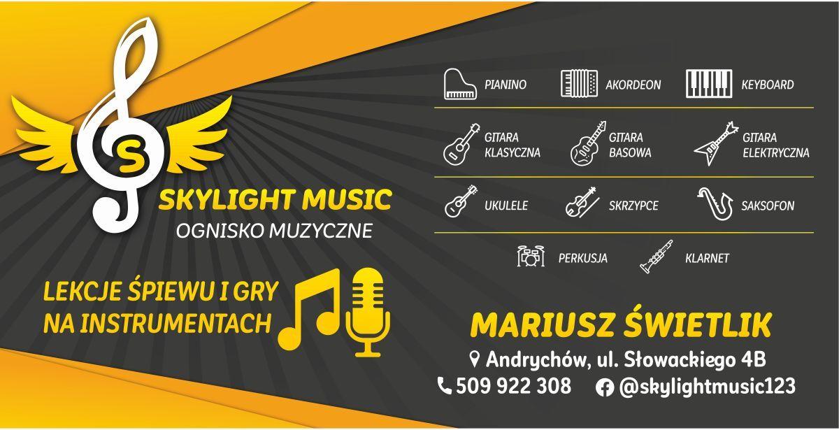 Lekcje śpiewu oraz lekcje gry na instrumentach - Skylight Music Andrychów