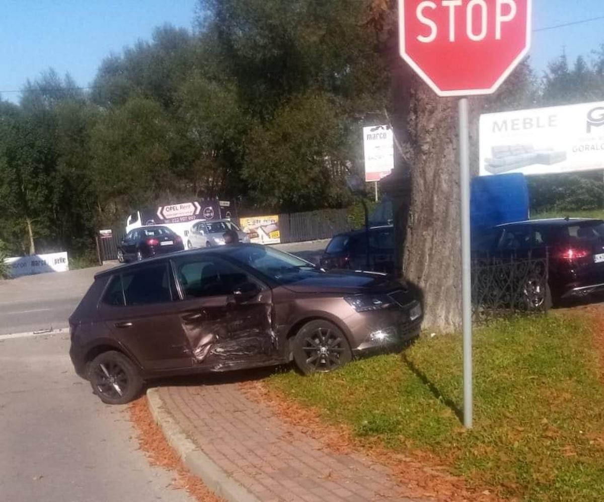 Zderzenie na skrzyżowaniu