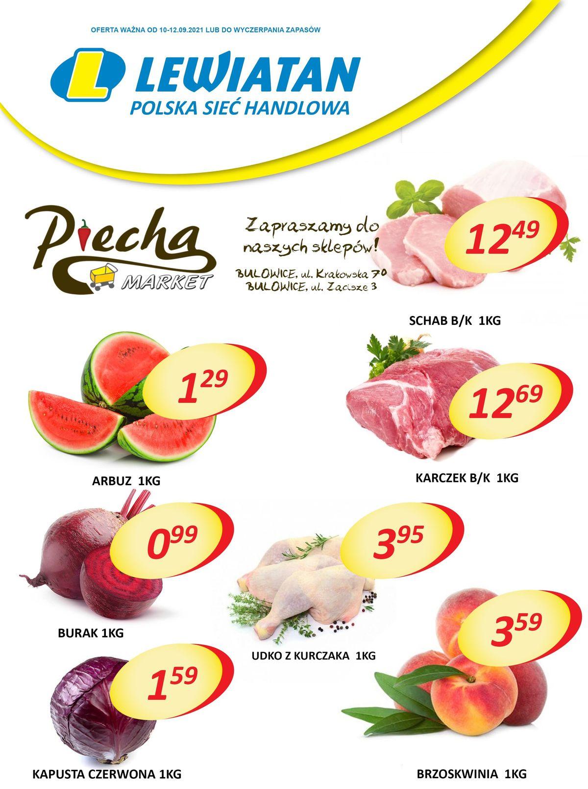 Lewiatan Piecha Market w Bulowicach. Promocje 10-12 września