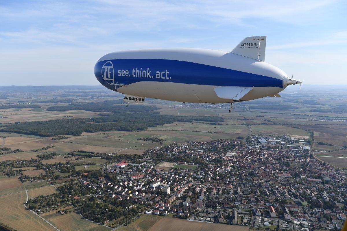 Sterowiec Zeppelin na Podbeskidziu