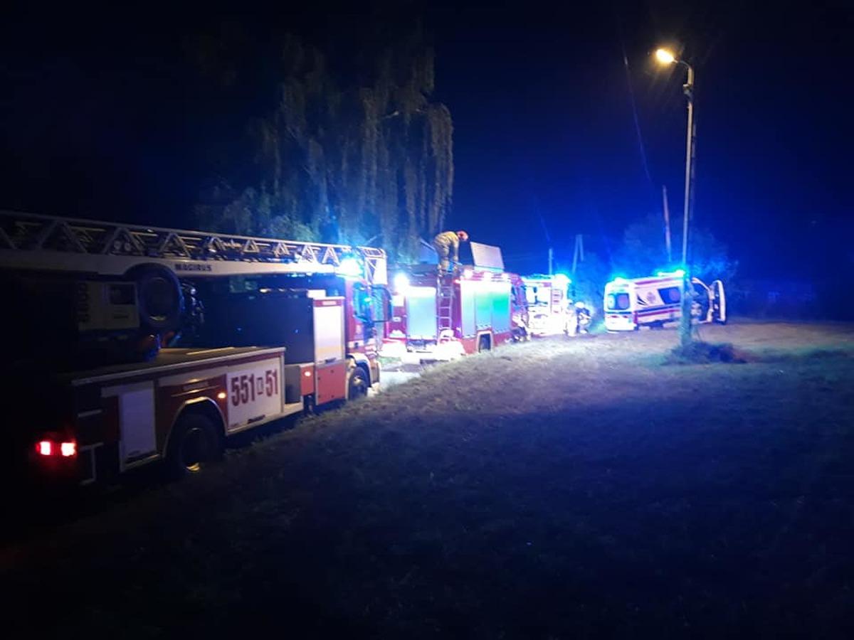 Dwa pożary w poniedziałkowy wieczór