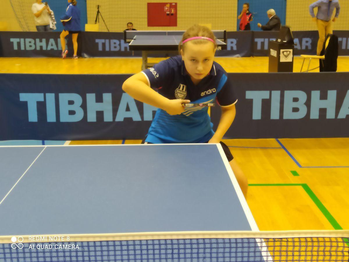 Zuzanna Piekarczyk na podium I GRAND-PRIX Polski młodzików w tenisie stołowym!