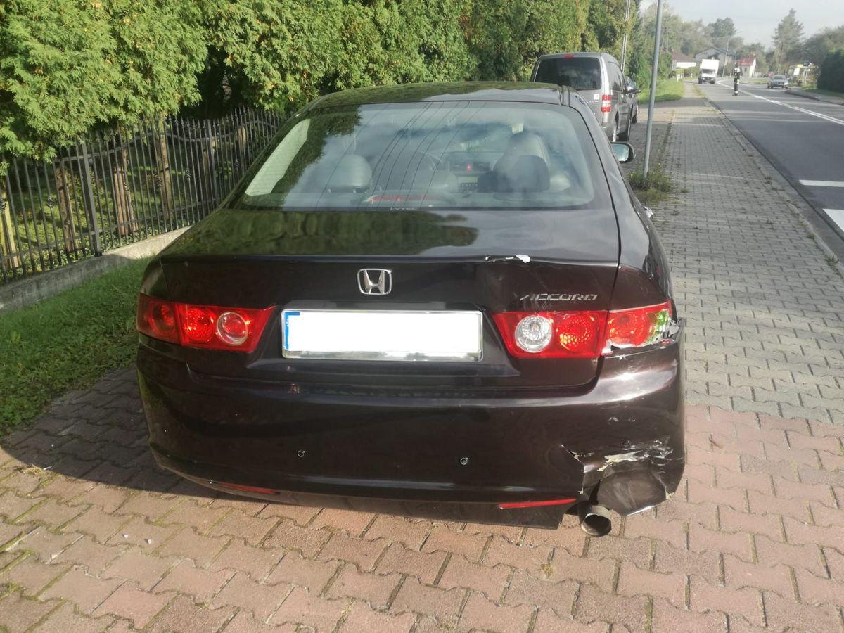 Zderzenie samochodu ze skuterem, ranny 17-latek
