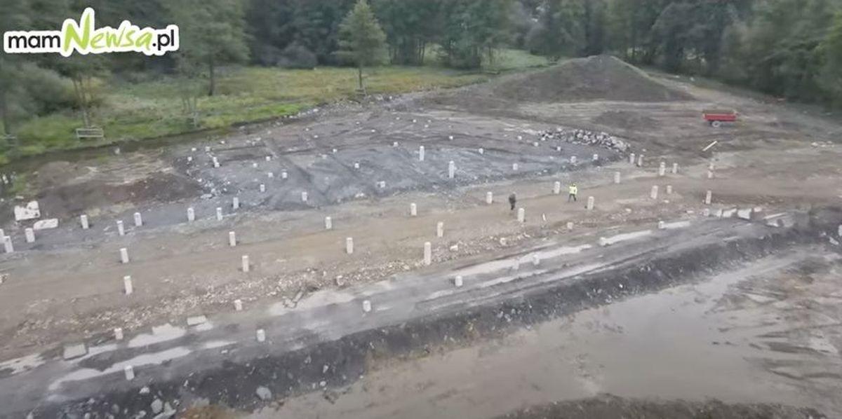 Tak powstaje Zalew Anteckiego w Andrychowie [VIDEO]