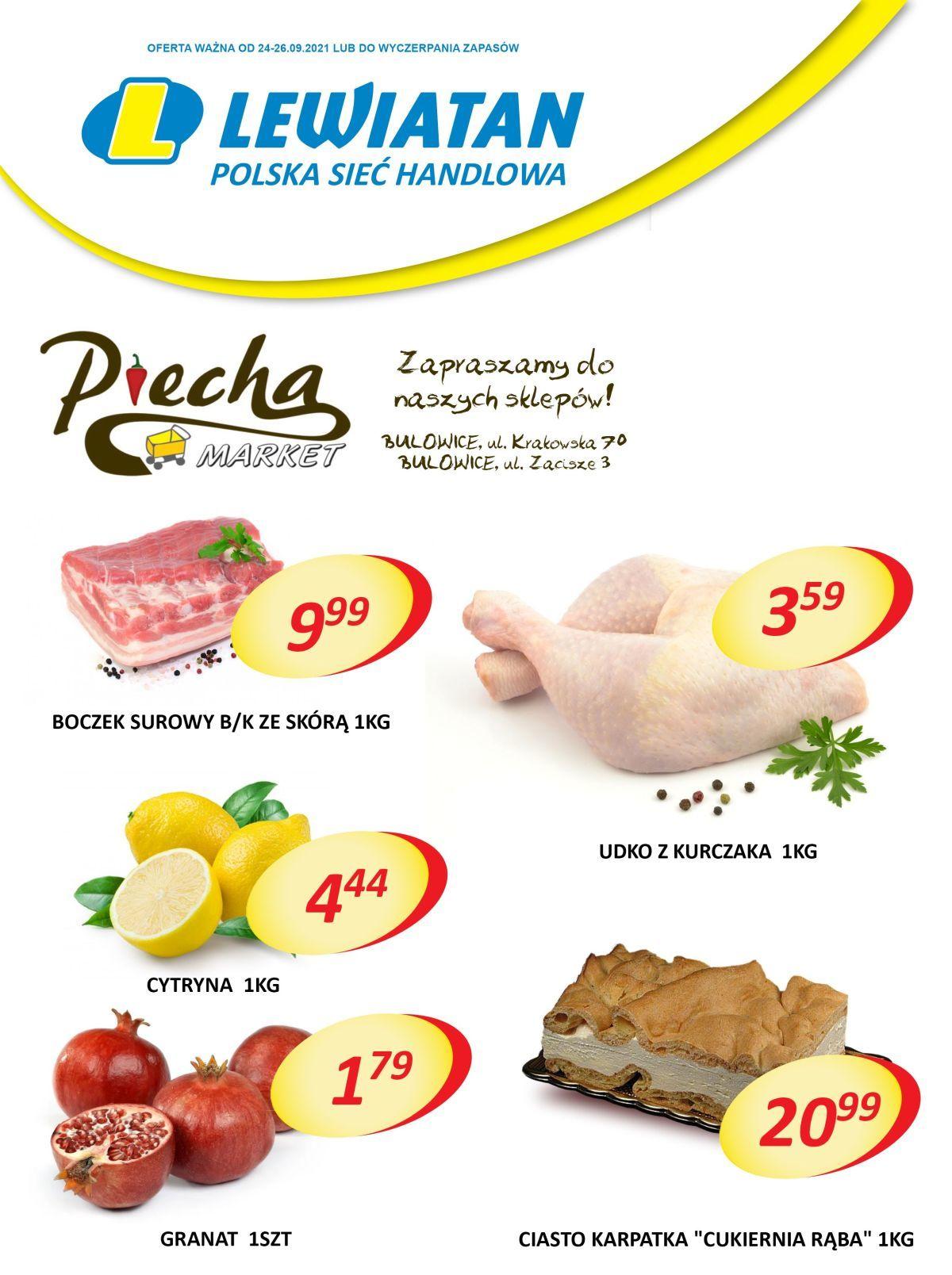 Lewiatan Piecha Market w Bulowicach. Promocje 24-26 września