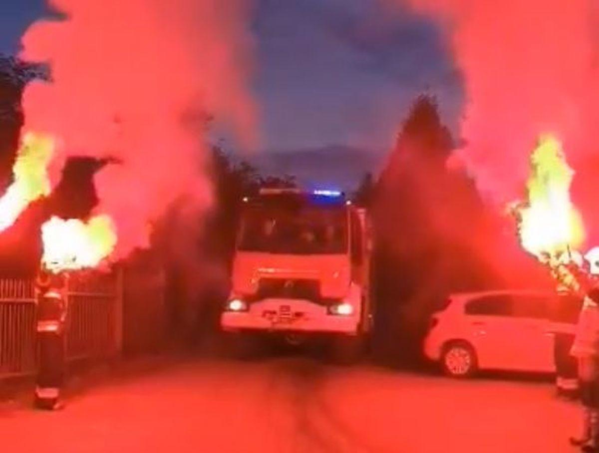 Tak witano nowy wóz strażacki [VIDEO]