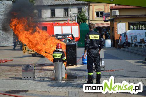 Zawody dla strażackich twardzieli na placu Mickiewicza [FOTO]