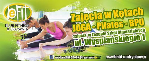 Klub Be-Fit zaprasza na zajęcia JOGA - Pilates - BPU