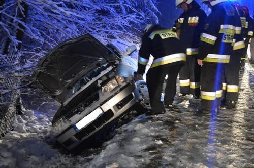 Wypadek w Rzykach. Niebezpiecznie na drogach[FOTO]