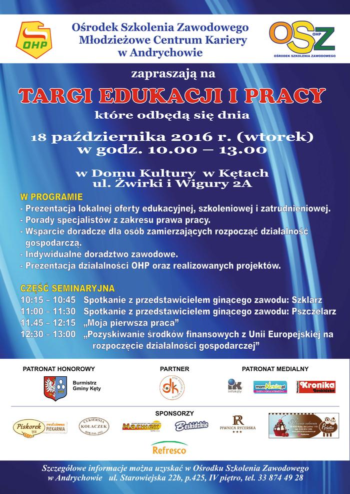 We wtorek Targi Edukacji i Pracy w Kętach