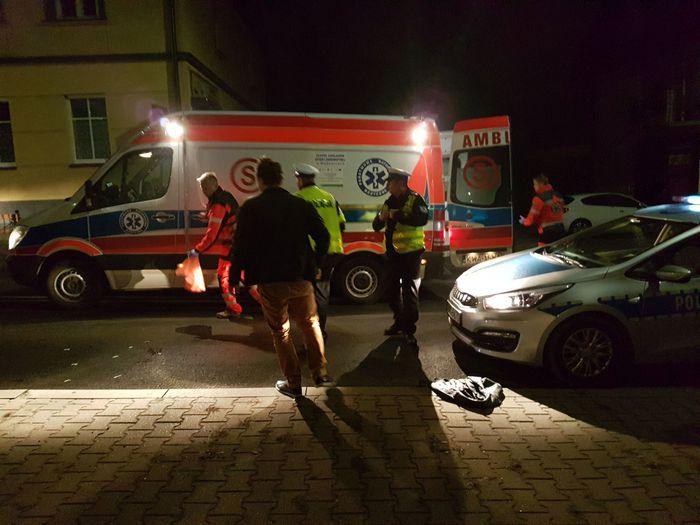 Wypadek na Krakowskiej. Pieszy potrącony na pasach [FOTO, AKTUALIZACJA]